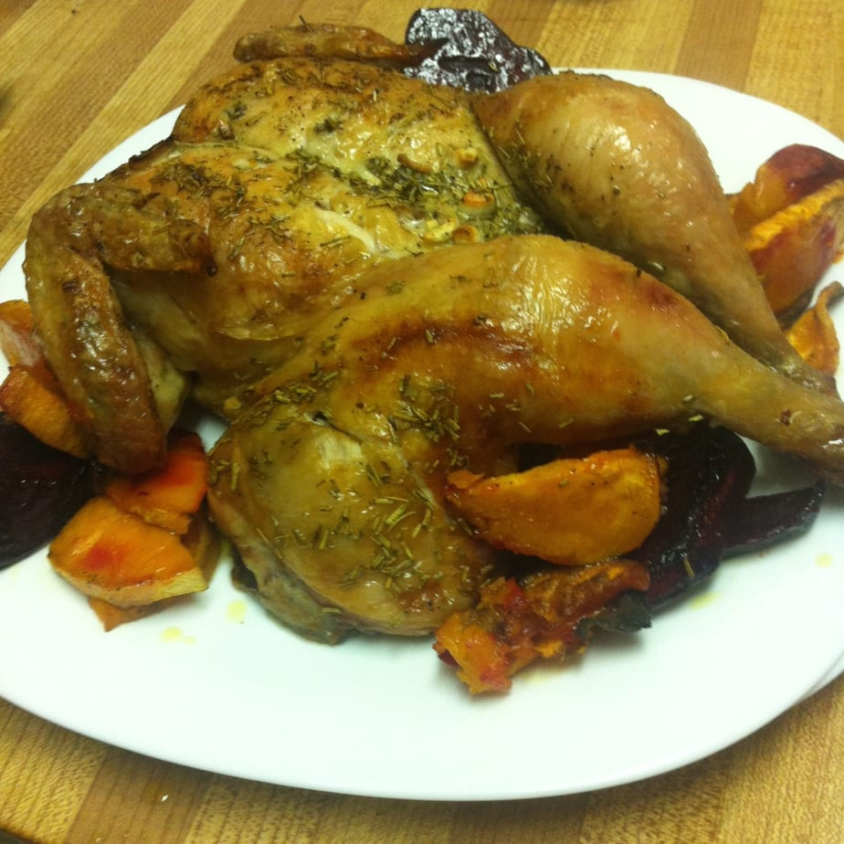 Rosemary & Garlic Butterfly Chicken (My Experience Cooking a Whole Bird)