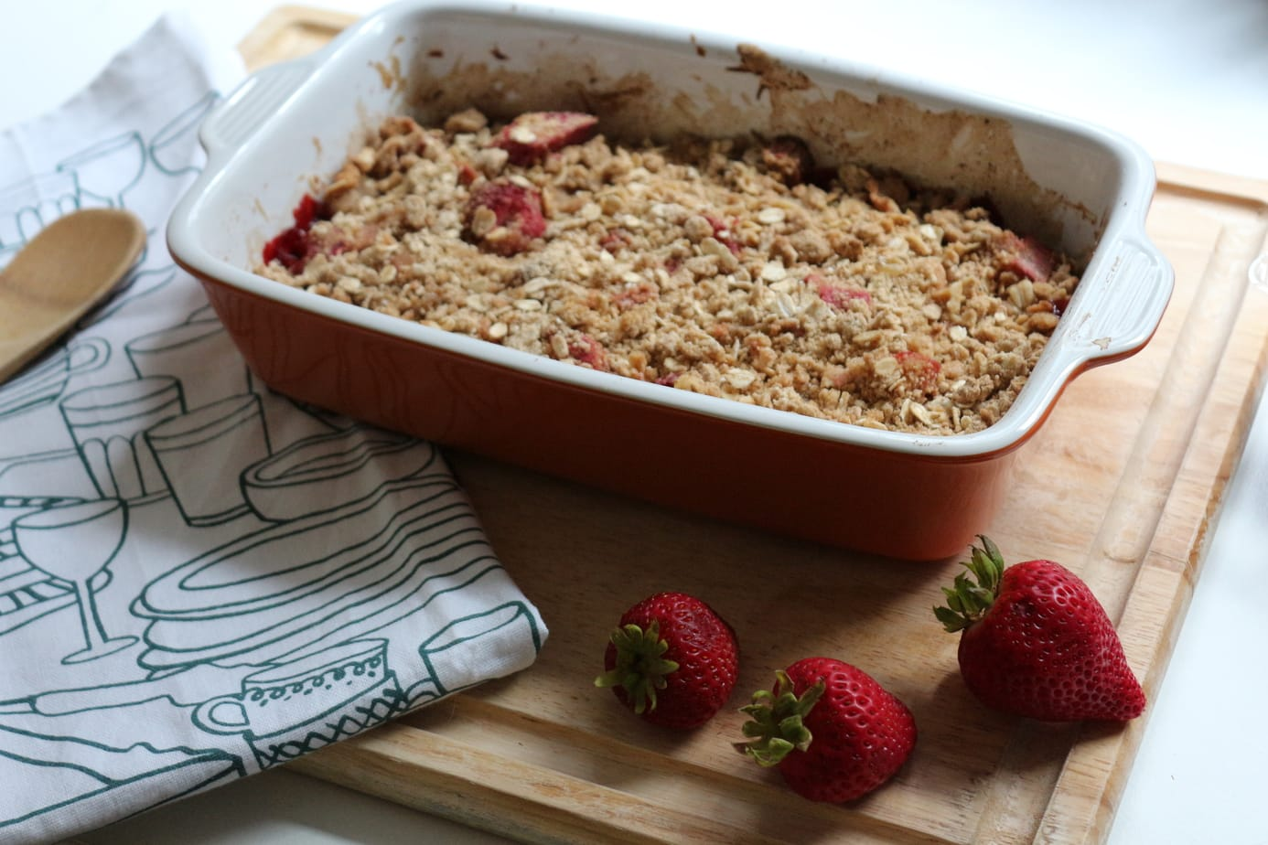 Summer Solstice & Strawberry-Rhubarb Crisp