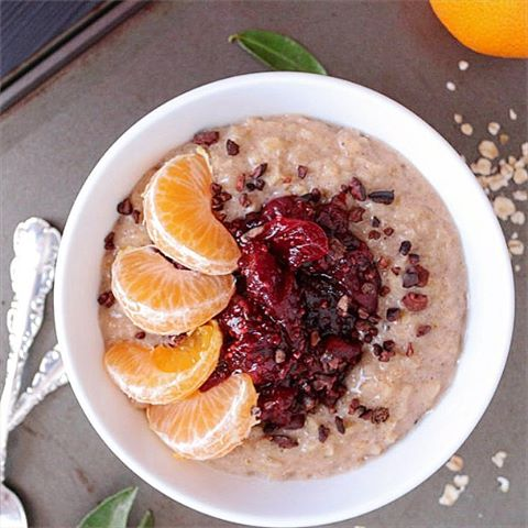 CHAI SPICED OATMEAL CRANBERRY CHIA JAM  CLEMENTINES  onhellip
