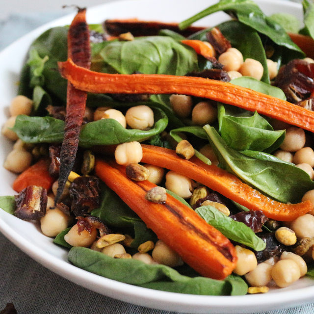 vegan carrot chickpea salad