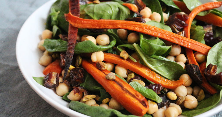 Roasted Carrot + Chickpea Salad {vegan + gf}