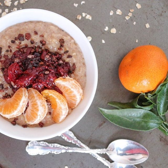 Cold mornings have me wishing for this Chai Spiced Oatmealhellip