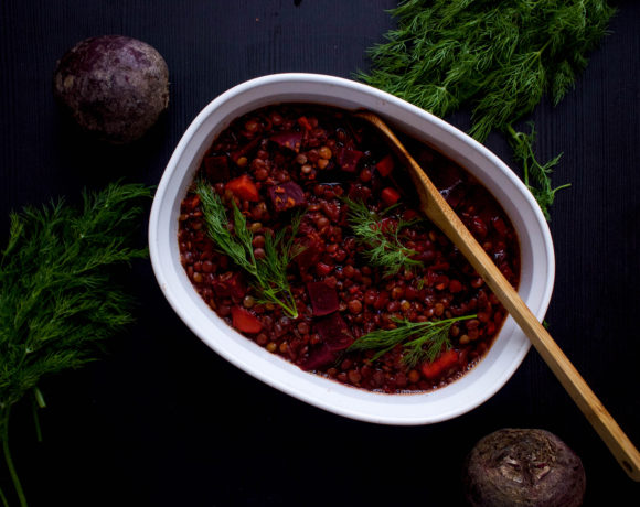 Beet + Dill Infused Lentils