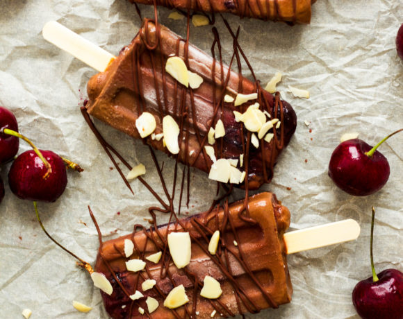 Chocolate Cherry Fudge Popsicles {vegan}