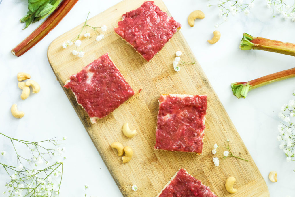 Ginger Rhubarb + Vanilla Cream Bars {paleo + vegan} and  why we have to stop labelling ourselves